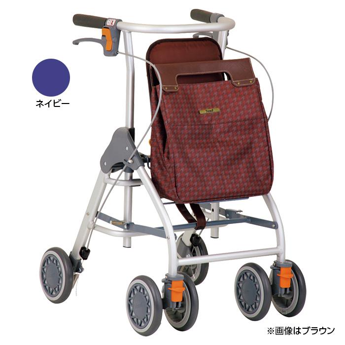 幸和製作所 テイコブ リトルスリム ネイビー 歩行車 杖立て付 歩行器