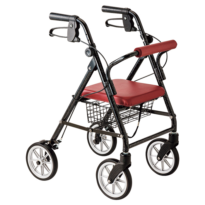 竹虎 ハッピーミニプレミアム 歩行車 杖立て付 歩行器