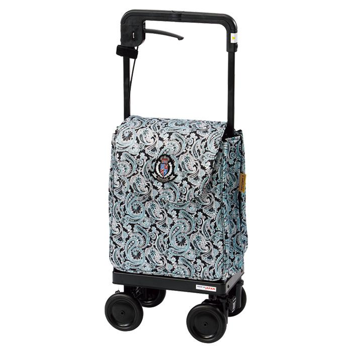 ウィズワン キャリーライトSN ペイズリーブルー ショッピングカート シルバーカー 4輪