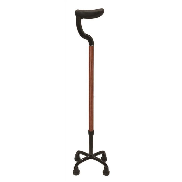 島製作所 カーボン四点式 杖 フラットグリップ ローズウッド 79C-W1 4点接地可能な杖