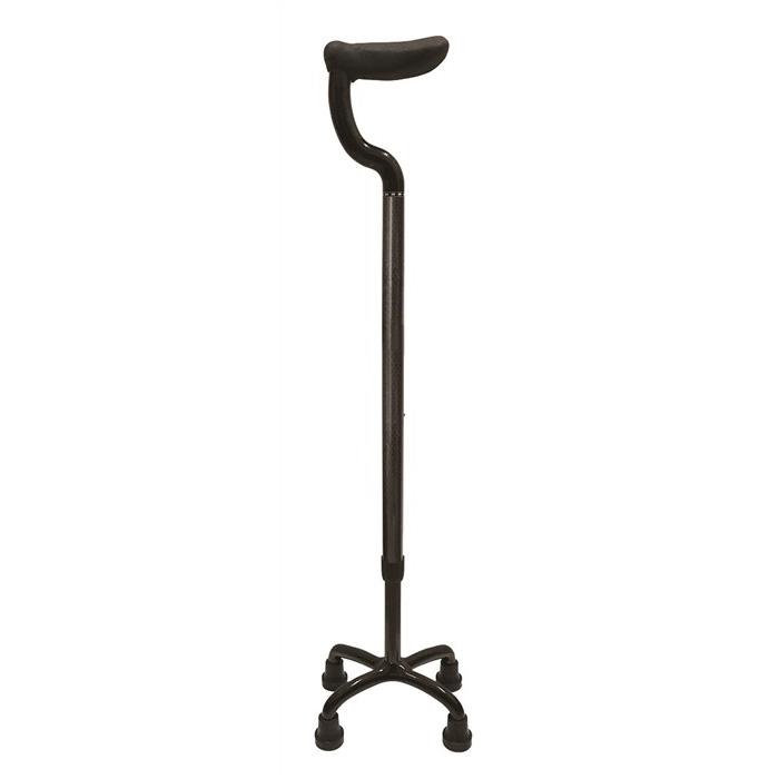 島製作所 カーボン四点式 杖 フラットグリップ カーボン柄グレー 79C-3 4点接地可能な杖