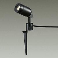 ☆DAIKO LED照明器具 アウトドアスポットライト スパイク式 ダイクロハロゲン50Wタイプ 電球色 LEDランプ付 配光20° 差込プラグ付 防雨形 本体色:黒 DOL3763YBF