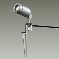 ☆DAIKO LED照明器具 アウトドアスポットライト スパイク式 ダイクロハロゲン50Wタイプ 電球色 LEDランプ付 配光20° 差込プラグ付 防雨形 本体色:シルバー DOL3763YSF