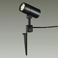 ☆DAIKO LED照明器具 アウトドアスポットライト スパイク式 白熱灯100Wタイプ 電球色 LED内蔵 配光60° 差込プラグ付 防雨形 本体色:黒 DOL4441YB