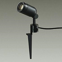 ☆DAIKO LED照明器具 アウトドアスポットライト スパイク式 ダイクロハロゲン65Wタイプ 電球色 LED内蔵 配光25° 差込プラグ付 防雨形 本体色:黒 DOL4056YB