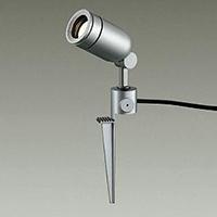 ☆DAIKO LED照明器具 アウトドアスポットライト スパイク式 ダイクロハロゲン65Wタイプ 電球色 LED内蔵 配光25° 差込プラグ付 防雨形 本体色:シルバー DOL4056YS