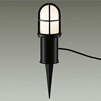 ☆DAIKO LED照明器具 アウトドア アプローチ灯 白熱灯60Wタイプ 電球色 LEDランプ付き 差込プラグ付 防雨形 本体色:黒 スパイク式 DWP37713