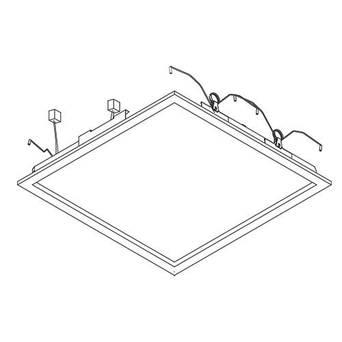 ☆パナソニック 一体型LEDベースライト スクエアタイプ 埋込型用パネル付点灯ユニット □600用 定格出力型 FHF45形×4灯相当タイプ(本体別売) 昼白色(5000K) NNFK47440JLA9 ≪特別限定セール!≫