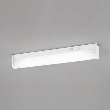 ☆ODELIC LEDキッチンライト 人感センサ付(手動スイッチ付) FL20W相当 昼白色 消費電力8.5W 壁面・棚下面取付兼用 100V用 OB255091