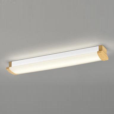☆ODELIC LEDキッチンライト Hf16W高出力×2灯クラス 電球色 消費電力21.3W 壁面・天井面・傾斜面取付兼用 100V~242V用 木調ナチュラル色 OL291030P4F