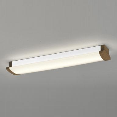 ☆ODELIC LEDキッチンライト Hf16W高出力×2灯クラス 電球色 消費電力21.3W 壁面・天井面・傾斜面取付兼用 100V~242V用 木調ウォールナット色 OL291032P4F