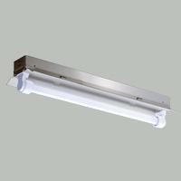 ☆三菱 反射笠付直管形LED照明器具 防雨・防湿タイプ ステンレス製 MILIE(ミライエ) Lファインeco FLR20形×1 100~242V 白色 1200lm×1 固定出力形(ランプ付) ELLEH2041AHJ+LDL20TW1012G3
