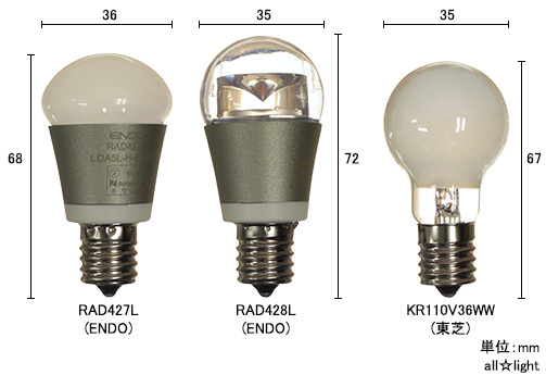 ☆ENDO LEDZ LAMP LED bulb mini-krypton sphere Frost electric bulb color type mini-krypton ball 40W equivalency 5W E17 clasp 440lm RAD427L(LDA5L-H-E17/S)