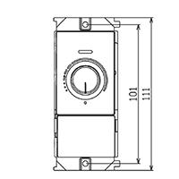 ☆東芝 手動調光器 コントルクスPD(4線式)1連サイズ プレート別売 DF70171PD