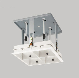 ☆ODELIC LEDマルチユニバーサル用ハウジング 4灯用 オフホワイト (灯体・電源別売) XA253317
