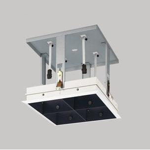 ☆ODELIC LEDマルチユニバーサル用ハウジング 4灯用 ブラック (灯体・電源別売) XA253318