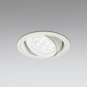 ☆ODELIC LEDベースダウンライト CDM-T35W相当 オフホワイト 14° 埋込穴Φ125mm 白色 4000K  M形 一般型 専用調光器対応 XD258137P (調光器・信号線別売) ※受注生産品