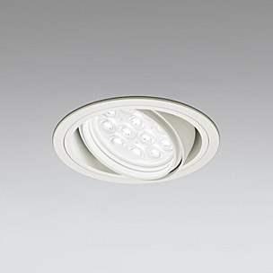 ☆ODELIC LEDベースダウンライト CDM-T35W相当 オフホワイト 49° 埋込穴Φ125mm 温白色 3500K  M形 一般型 専用調光器対応 XD258192P (調光器・信号線別売) ※受注生産品