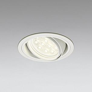 ☆ODELIC LEDベースダウンライト CDM-T35W相当 オフホワイト 49° 埋込穴Φ125mm 電球色 3000K  M形 一般型 専用調光器対応 XD258200P (調光器・信号線別売) ※受注生産品