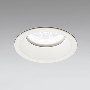 ☆ODELIC LED軒下用ベースダウンライト CDM-TP70W相当 オフホワイト 14° 埋込穴Φ150mm 温白色 3500K  M形 一般型 調光非対応 防雨形 XD258289F ※受注生産品