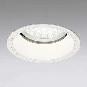 ☆ODELIC LEDベースダウンライト セラミックメタルハライド100W相当 アイボリーホワイト 69° 埋込穴Φ200mm 電球色 3000K  M形 一般型 調光非対応 XD258541 ※受注生産品