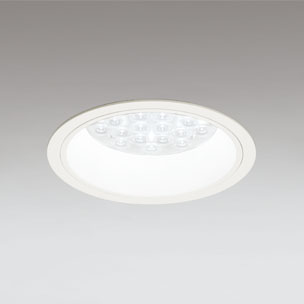 ☆ODELIC LEDベースダウンライト CDM-TP70W相当 オフホワイト 47° 埋込穴Φ150mm 温白色 3500K  M形 一般型 調光非対応 XD258574F ※受注生産品