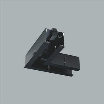☆KOIZUMI リニアバンクシステムパーツ コーナーパーツ 黒色仕上げ XE48003E ※受注生産品