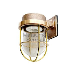 送料無料 真鍮製マリンランプ 松本船舶 ウォールライトシリーズ 1号フランジ セール価格 ゴールド E26口金 ランプ別売 白熱電球60Wまで対応 屋外屋内兼用 金色 1FRG 新作多数