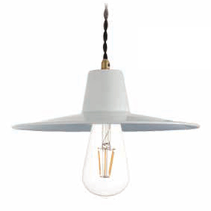 ☆ディクラッセ ペンダントランプ LEDバチーノ/LED Bacino 引掛けシーリング LED電球 E26口金 白熱球60W相当 (ランプ付き) 本体色ホワイト(白) LP3087WH