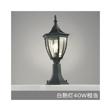 ☆ODELIC LED照明器具 アウトドア 門柱灯 LED電球 電球色タイプ 一般電球クリア6W(E26)(ランプ付) 白熱灯40W相当 防雨型 OG042146LD
