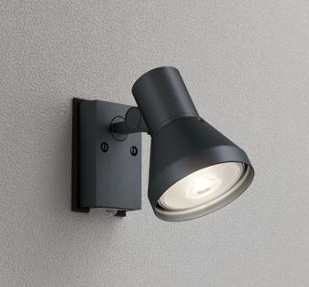 ☆ODELIC LEDエクステリアスポットライト LED電球ビーム球形用(ランプ別売) 本体ブラック 防雨型 壁面取付専用 人感センサ付 OG044135
