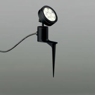 ☆ODELIC LEDエクステリアスポットライト スパイク式 プラグ付キャプタイヤケーブル LED一体型 ビーム球150W相当 電球色 ワイド配光 本体ブラック 防雨型 OG254094