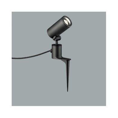 ☆ODELIC LEDエクステリアスポットライト スパイク式 プラグ付キャプタイヤケーブル LED一体型 ダイクロハロゲン(JDR)75W相当 電球色 ワイド配光 本体ブラック 防雨型 OG254359