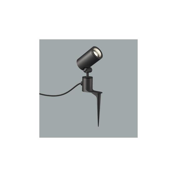 ☆ODELIC LEDエクステリアスポットライト スパイク式 プラグ付キャプタイヤケーブル Φ70 E11口金用 (ランプ別売) 本体ブラック 防雨型 OG254366
