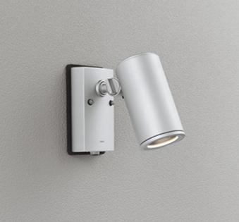 電球色 ODELIC ワイド配光 OG254550P1 本体マットシルバー 人感センサー付 LEDエクステリアスポットライト LED一体型 ダイクロハロゲン75W相当 壁面取付専用 防雨型