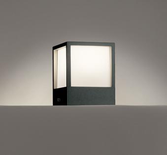 ☆ODELIC LED照明器具 アウトドア 門柱灯 白熱灯60W相当 LED一体型 電球色 防雨型 100V 据置取付専用 OG254618