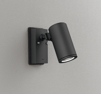 ☆ODELIC LEDエクステリアスポットライト LED一体型 ダイクロハロゲン75W相当 昼白色 ミディアム配光 本体ブラック 防雨型 壁面取付専用 人感センサー付 OG254722P1