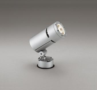 ☆ODELIC LEDエクステリアスポットライト LED一体型 CDM-T70W相当 電球色 ワイド配光 本体マットシルバー 防雨型 壁面・天井面・床面取付兼用 OG254765