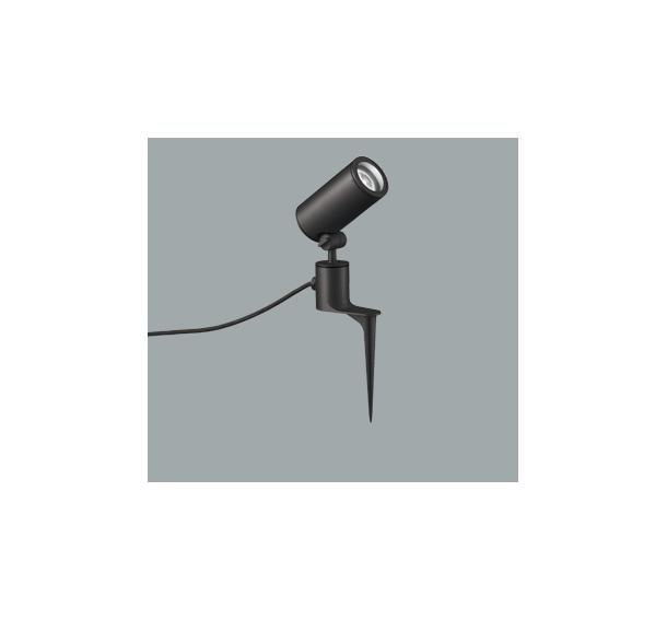 ☆ODELIC LEDエクステリアスポットライト スパイク式 プラグ付キャプタイヤケーブル LED一体型 CDM-T35W相当 昼白色 ワイド配光 本体ブラック 防雨型 OG254863