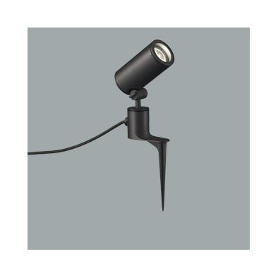 ☆ODELIC LEDエクステリアスポットライト スパイク式 プラグ付キャプタイヤケーブル LED一体型 CDM-T35W相当 電球色 ワイド配光 本体ブラック 防雨型 OG254864