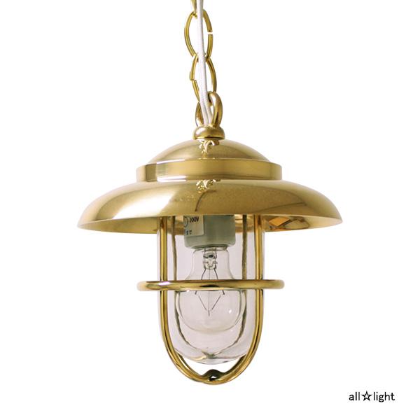 ☆ゴーリキアイランド ペンダントライト 引掛シーリング式 PETE-P(ピート・P) ミニクリプトン電球40Wまで E17口金 真鍮磨き仕上げ(ゴールド) ランプ付 P1760CL