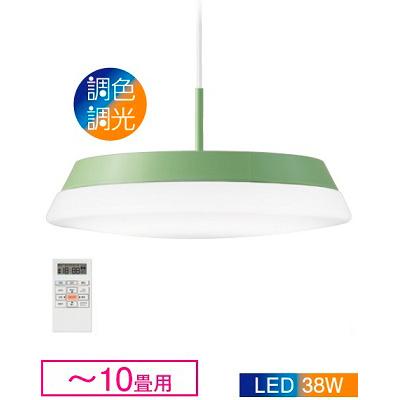 ☆DAIKO LED照明器具 天井照明 ペンダントライト ~10畳用 LED一体形 調色・調光タイプ(6500K~2700K) 引掛シーリング取付 リモコン付き DXL81174