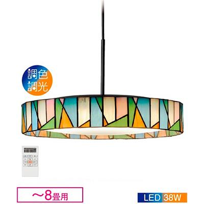 ☆DAIKO LED照明器具 天井照明 ペンダントライト ~8畳用 LED一体形 調色・調光タイプ(6500K~2700K) 引掛シーリング取付 リモコン付き DXL81225