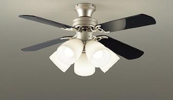 ☆DAIKO LEDシーリングファンライト 簡易取付式 (ランプ・リモコンスイッチ付) 7.8W電球色×5灯 本体シルバーサテン 正転逆転切替 風量3段切替機能付 ASL501SE