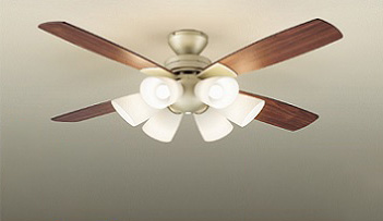 ☆DAIKO LEDシーリングファンライト 簡易取付式 (ランプ・リモコンスイッチ付) 6.2W電球色×6灯 本体シルバーサテン 正転逆転切替 風量3段切替機能付 ASL613
