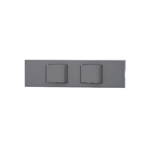 ☆神保電器 NKシリーズ 家具・機器用3路ガイドランプ付きスイッチセット(什器用) 2口 ソリッドグレー(SG) KAG2537 ※受注生産品
