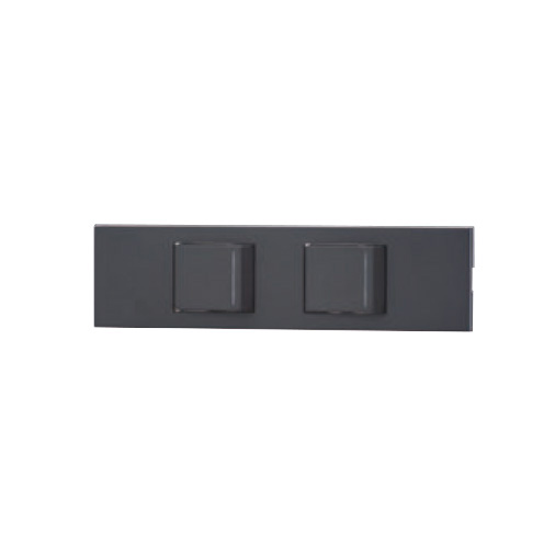 ☆神保電器 NKシリーズ 家具・機器用3路ガイドランプ付きスイッチセット(什器用) 2口 ソフトブラック(SB) KAG2538 ※受注生産品