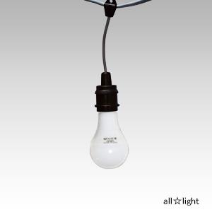 ☆スズデン ミニタイプスズラン灯 ケーブル長10m E26防水ソケット10個 + LED電球 100V/200V共用 一般電球40W形相当 防塵防水 IP65×10個 MT11010P+FA4SLG