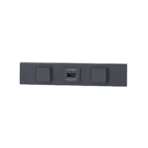 ☆神保電器 NKシリーズ 家具・機器用3路ガイドスイッチ+USBコンセント+3路ガイドスイッチセット(什器用) ソフトブラック(SB) KAG3526 ※受注生産品