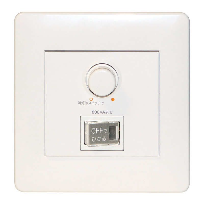 ☆TES LIGHTING 正位相制御調光器 ロータリー式 最大負荷容量800VA AC100V TLC0004
